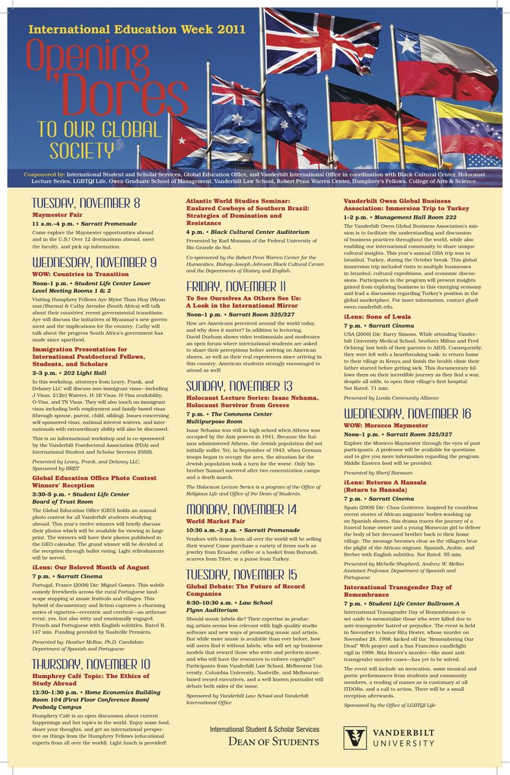 International Education Week Continues, Check Out The Event Schedule!