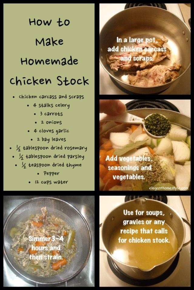 How to make chicken stock.