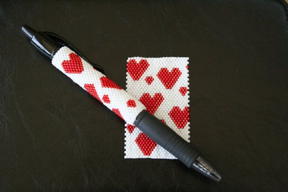 Hey, I found this really awesome Etsy listing at https://www.etsy.com/uk/listing/246491700/hearts-even-count-peyote-pen-cover