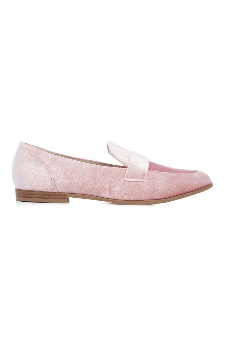 Primark - Loafers veludo cor-de-rosa