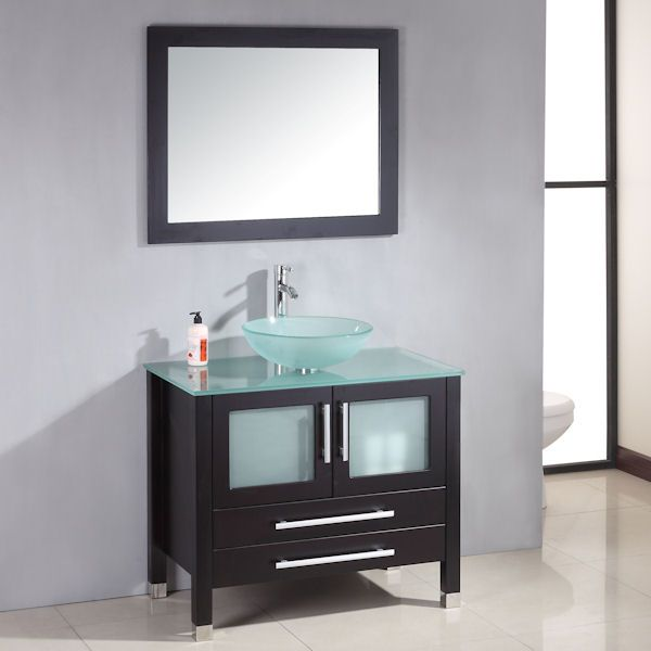 Cambridge Solid Wood Glass Vessel Sink Vessel Sink Bathroommodern Bathroom Vanitiesmodern Bathroomsbathroom Ideassingle