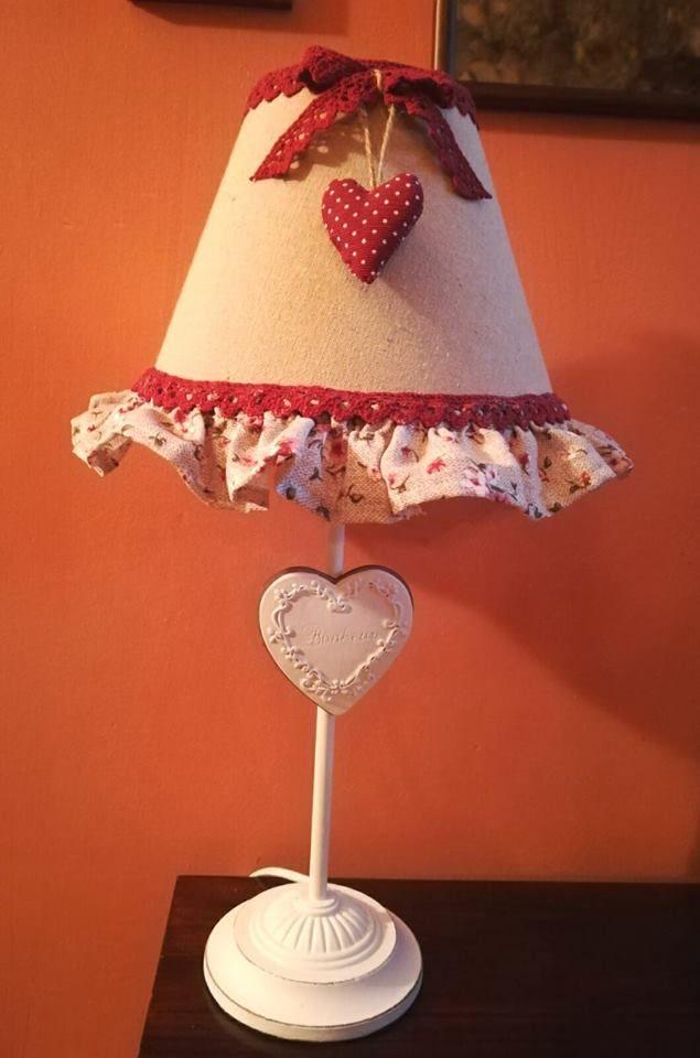 Lampada con paralume cucito creativo handmade