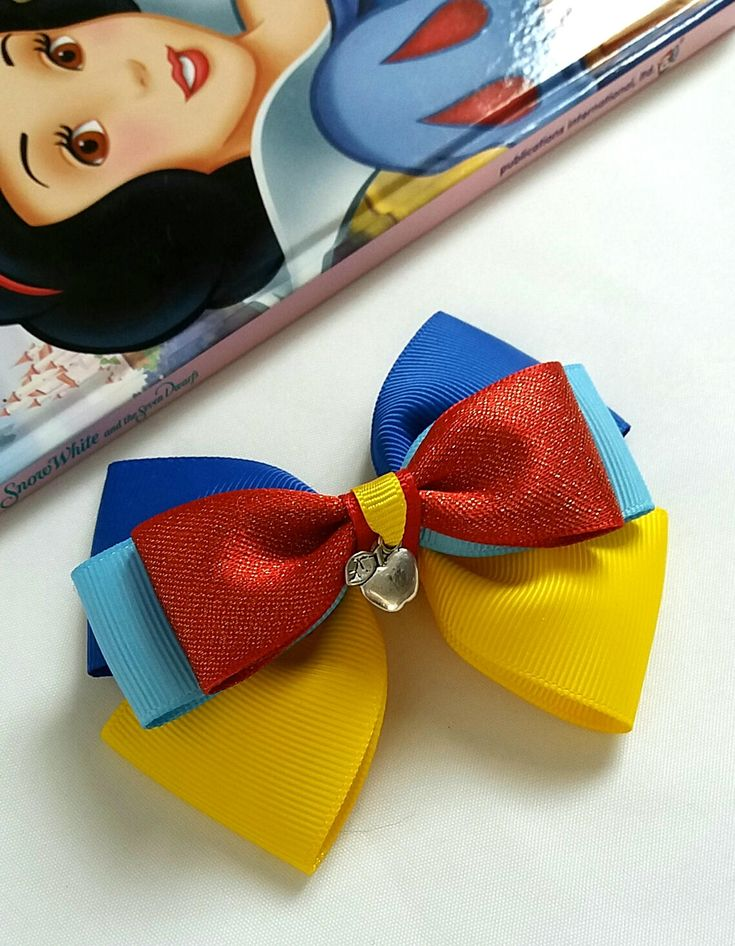 Excited to share the latest addition to my #etsy shop: Snow White, Hair Bow, Baby Headband, Disney, Princess, Blue, Red, Yellow, Hair Clip,Uk http://etsy.me/2DtTfD7 #accessories #hair #blue #birthday #yellow #disney #snowwhite #princess #hairbow