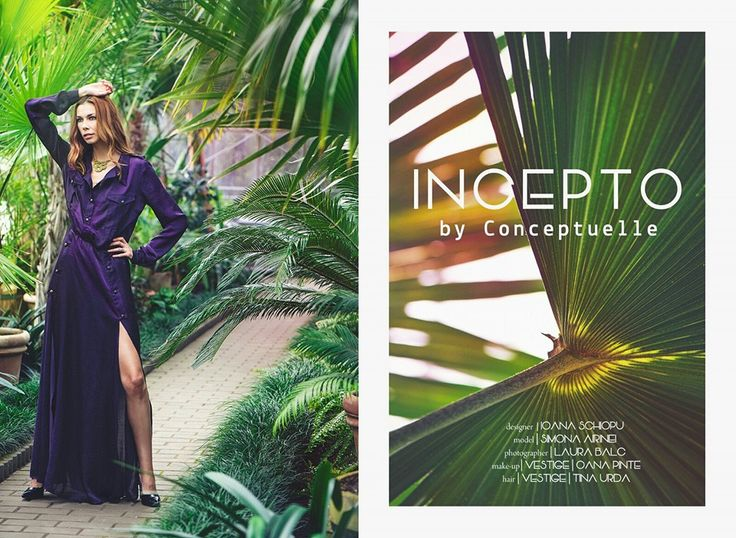 INCEPTO, new collection for spring/summer 2016 by Ioana Schiopu. Photography by Laura Bâlc Model Simona Airinei Make-up by Vestige& Oana Pinte Hairstyle by Vestige& Tina Urda Let's..Spring It On!  #springiton
