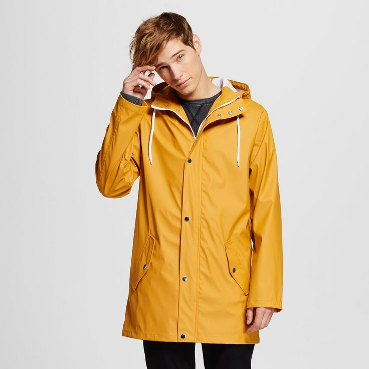 Mens Water Resistant Rain Jacket Yellow (Zesty Gold) - Mossimo Supply Co : Target