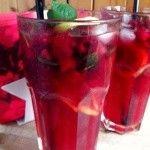 Malinový ledový čaj