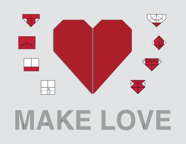 origami hearts, origam heart garland, origami heart tutorial