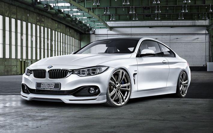 Descargar fondos de pantalla Kelleners Motorsport, la optimización, el BMW M4, f32, postura, blanco m4, BMW