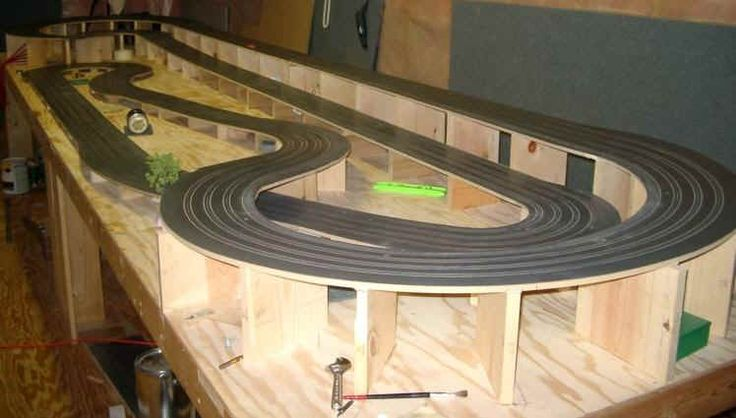 HO Slot Car Racing - Routed Wooden Track