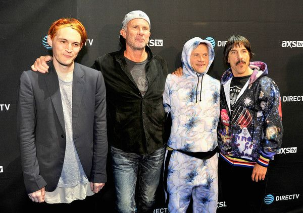 (L-R) Recording artists Josh Klinghoffer, Chad Smith, Flea, and Anthony Kiedis of Red Hot Chili Peppers attend DirecTV Super Saturday Night Co-hosted by Mark Cuban's AXS TV at Pier 70 on February 6, 2016 in San Francisco, California. - DirecTV Super Saturday Night Co-Hosted by Mark Cuban's AXS TV - Arrivals