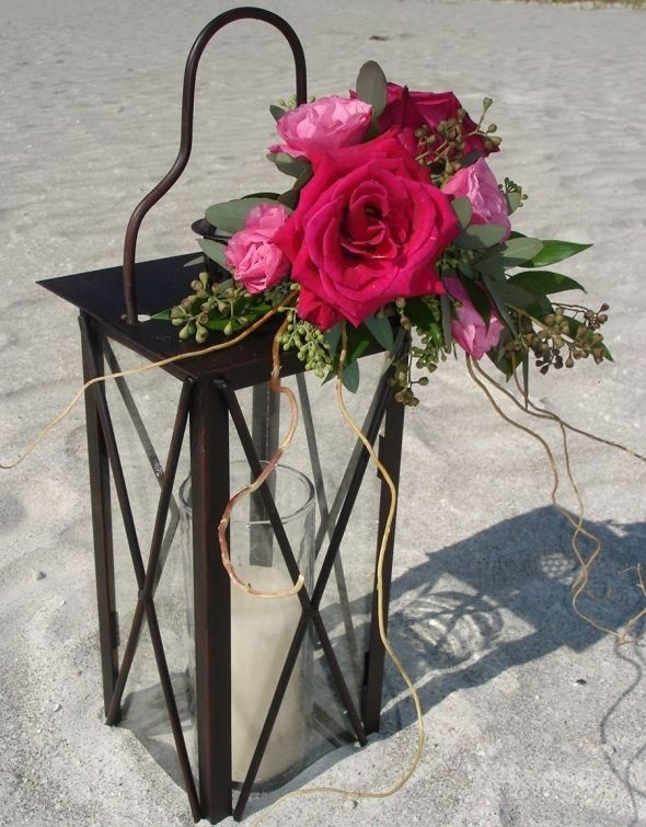 Lantern centerpieces...need ideas!! :  wedding lantern centerpiece maroon Floral Lantern wedding-ideas