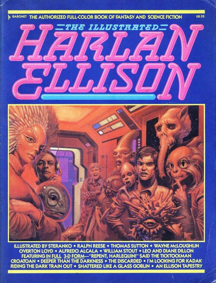Portada de 'The Illustrated Harlan Ellison' a cargo de Mike Whelan.