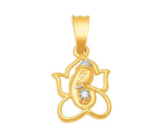 Lord Ganesha diamond pendant from KISNA Diamond Jewellery. #indian #diamond #jewelry