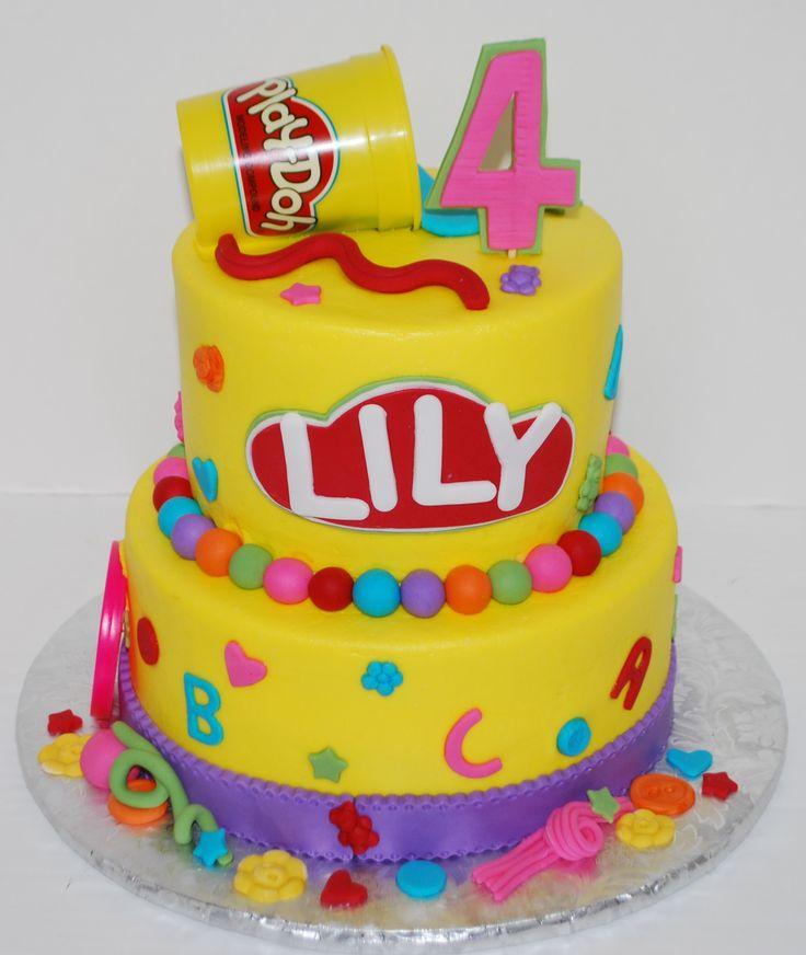 Play Doh Theme Birthday Cake