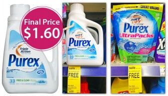 Purex Laundry Detergent, Only $1.60 at Walgreens!