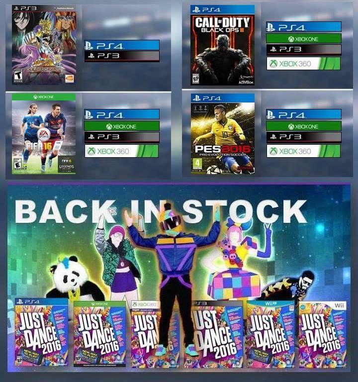 MUCHO ESPECIALES !!!!!! REGISTRATE PARA OBTENER PROMOCIONES Y ULTIMO LANZAMIENTO EN JUEGOS DE VIDEOS..!! VISITE NUESTRA PÁGINA WEB www.latamgames.com #mayoristas #distribuidores #xboxone #Xbox #PS4 #ps3 #xbox360 #psvita #vita #wii #wiiu #3ds #videojuegos #PS3 #playstationvideojuegos #ventadevideojuejos #FIFA #PES #CallOfDuty #JustDance #SaintSeiya #Ventas