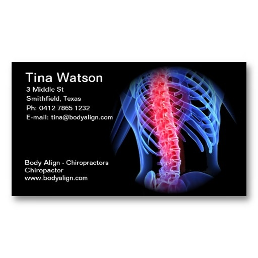 Chiropractor Business Card Zazzle Com Chiropractors Printing Double Sided Business Cards