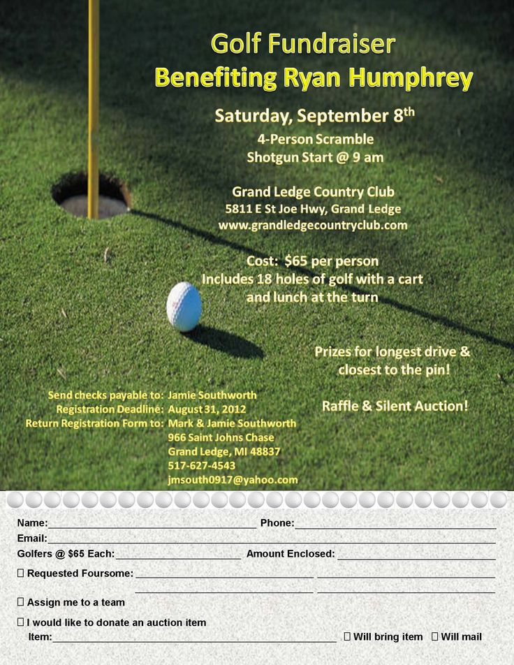 Best Golf Tournament Images On   Fundraisers Charity