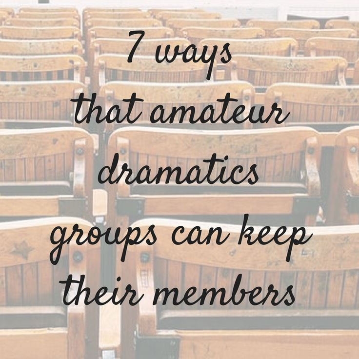 Amateur dramatics groups - want to keep your members (happy)?  Check out our blog post by clicking on the image.