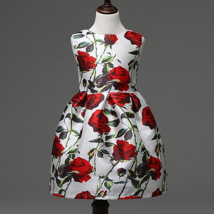 $25.00 (Buy here: https://alitems.com/g/1e8d114494ebda23ff8b16525dc3e8/?i=5&ulp=https%3A%2F%2Fwww.aliexpress.com%2Fitem%2FKids-Clothes-Print-Girls-Dress-Rose-Party-Wedding-Evening-Dress-Floral-Princess-Dresses-Children-Clothing-2%2F32582724040.html ) Kids Clothes Print Girls Dress Rose Party Wedding Evening Dress Floral Princess Dresses Children Clothing 2-11Y Girls Clothes for just $25.00