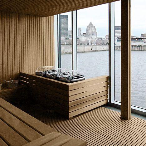 Sauna with a beautiful view.