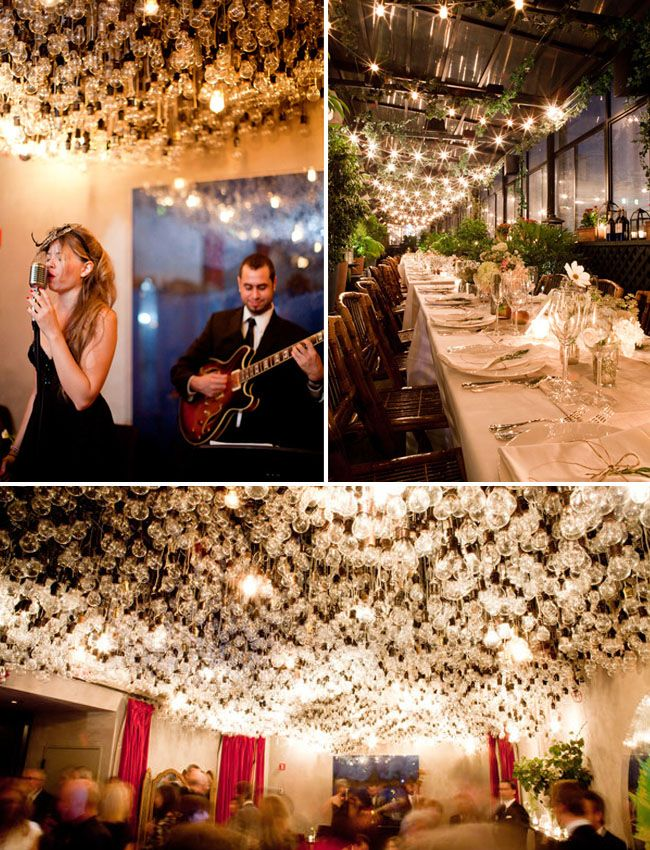 The light bulb ceiling at the Gramercy Park Hotel is so amazing. (NOTE: I posted this before actually attending a wedding at this swank joint on Saturday!! IT WAS BETTER THAN THE PICTURE! I stared at the ceiling for the longest time....)