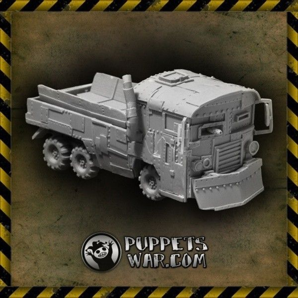 One more vehicle today - Orc Warbus. Did You know that this model is offered in two versions? And it is discounted right now?  https://puppetswar.eu/product.php?id_product=65