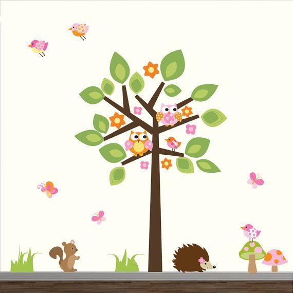 Wall Decals Tree with Animals-Nursery Wall Decal door Modernwalls
