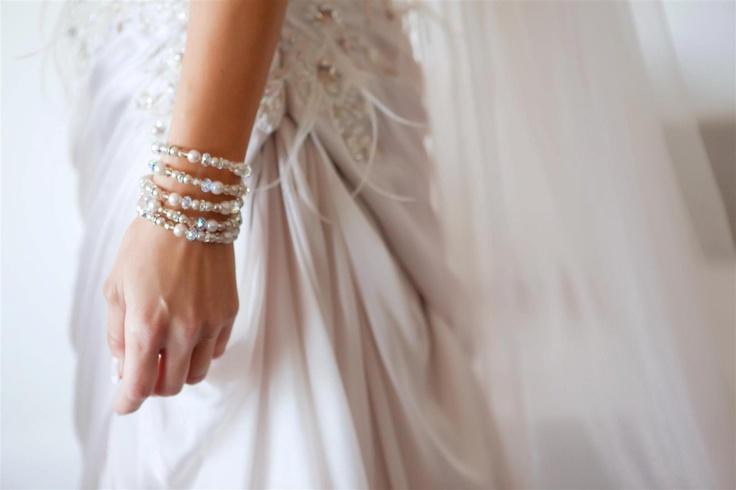 Elizabeth de Varga 'Buffy' bracelet - handmade from Swarovski crystals and pearls <3