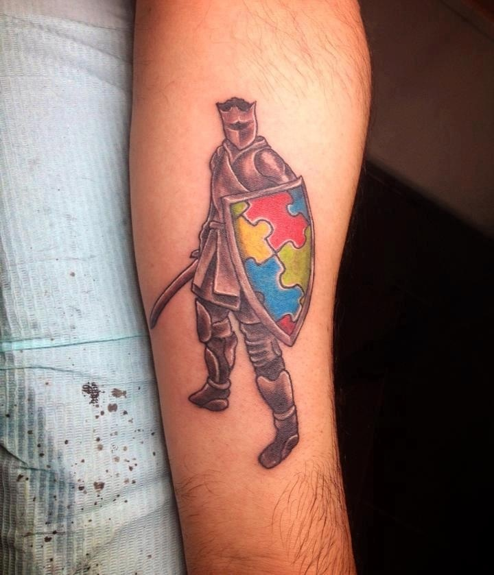 one of my fellow autism dads got this tattoo in dedication