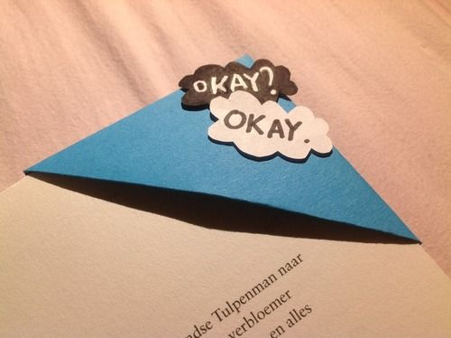 The Fault In Our Stars Bookmarker | via Tumblr