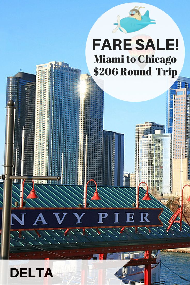 34 best deals from miami images on pinterest round trip for Round trip flight to chicago