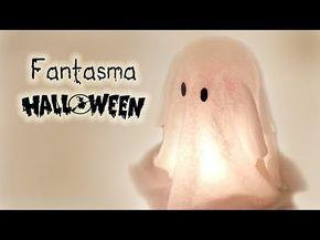 Manualidades para Halloween: FANTASMA muy FÁCIL (Decoración) - Innova Manualidades - YouTube