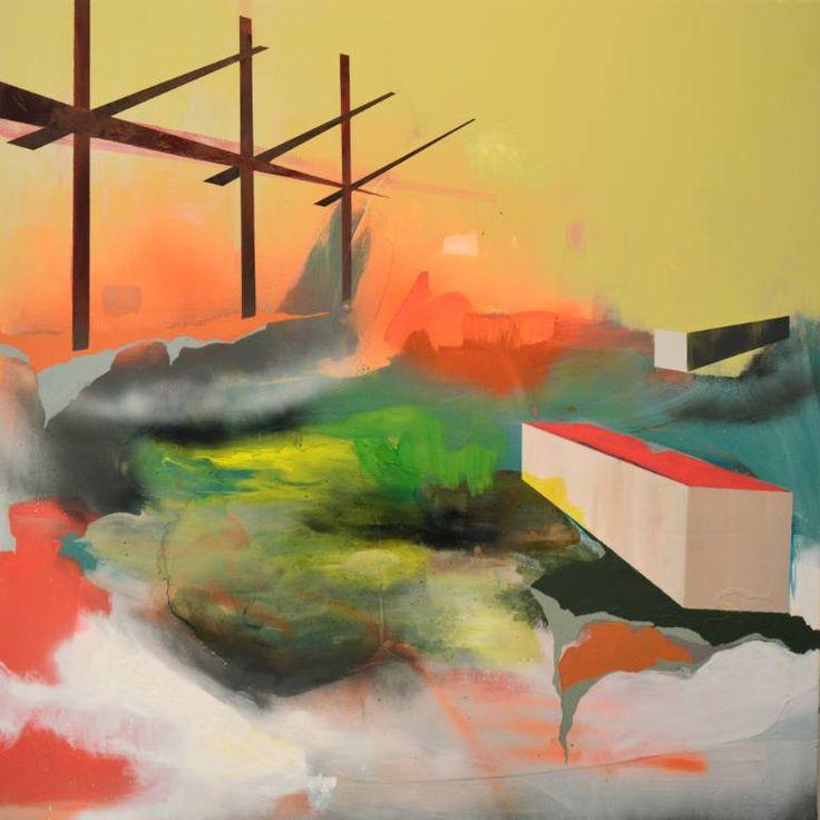 "Saatchi Art Artist Ariel Lockshaw; Painting, ""Temporary Barriers"" #art"