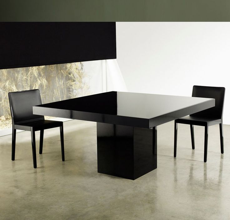 Beech Square Dining Table For Sale Features Central Base And Table Top In  Lacquer Or Wood