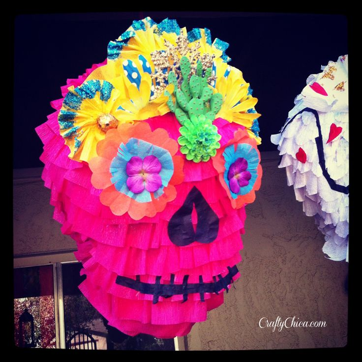 I Made More Sugar Skull Piñatas! | CraftyChica.com | Sparkly, artful inspirations by artist and author, Kathy Cano-Murillo.
