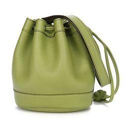 Hermes Vert Anis Clemence Leather Market PM Drawstring Handbag ...