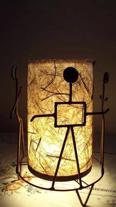 Coconut paper lamp by mehreen hussain.