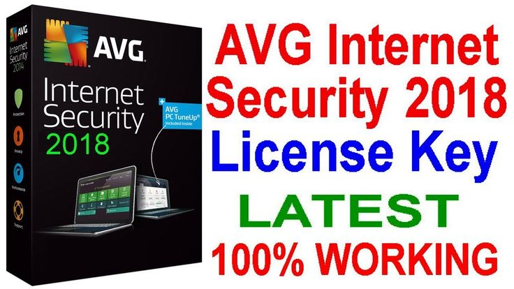 AVG Internet Security 2018 | License Key | Activation key | LATEST