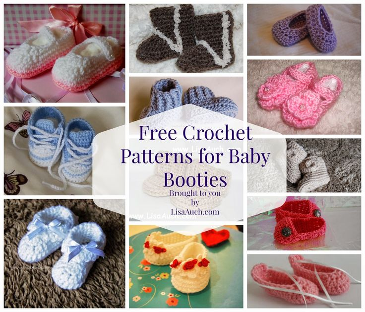 FREE Crochet Patterns for Baby Booties (20+ Baby Bootie ...