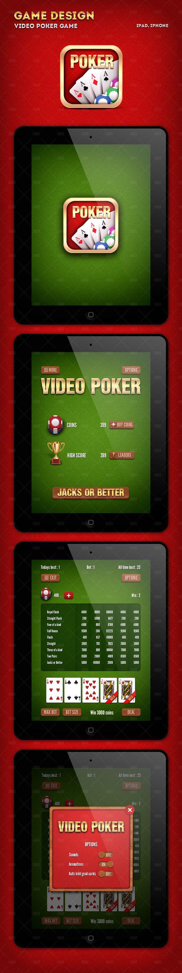 Poker game design on Behance
