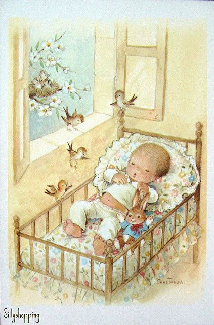 Vintage Big Eyed Babycard | Flickr - Photo Sharing!