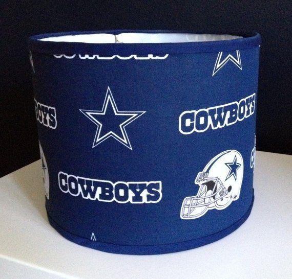 Nfl Dallas Cowboys Trendy Drum Lamp Shade Mancave Fancave Etsy Dallas Cowboys Drum Lampshade Cowboy Lamp