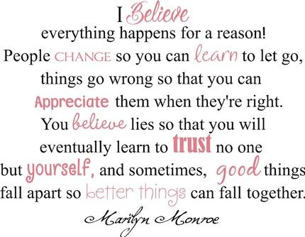 Letting goMarilyn Monroe, Monroe Quotes, Inspiration, Marilynmonroe, Sliding Rules, So True, Favorite Quotes,  Slipstick, Living