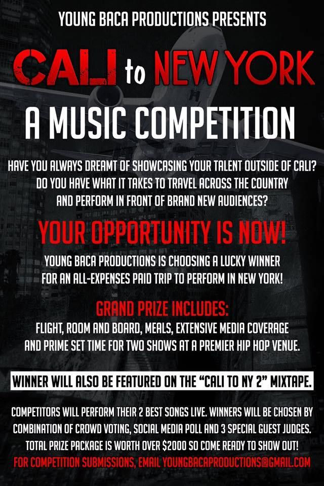 Young Baca Productions Presents Cali to New York: Music Competition