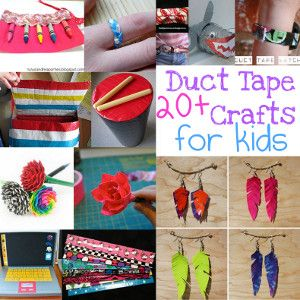 What to Make with Duct Tape: 24 Easy Duct Tape Crafts for Kids from @AllFreeKidsCrafts