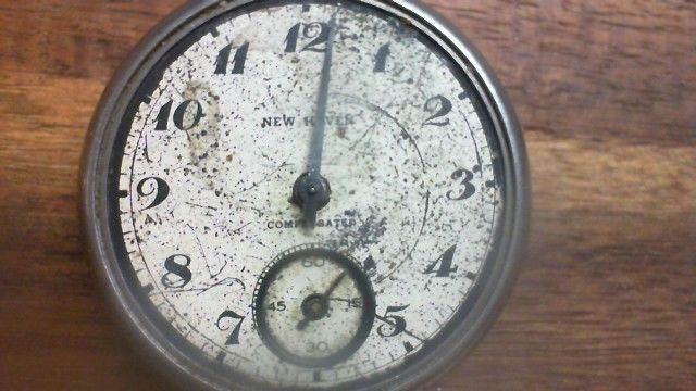 Vintage Dollar Pocket Watch, New Haven Compensated - (Parts piece only) R8T1 #NewHaven