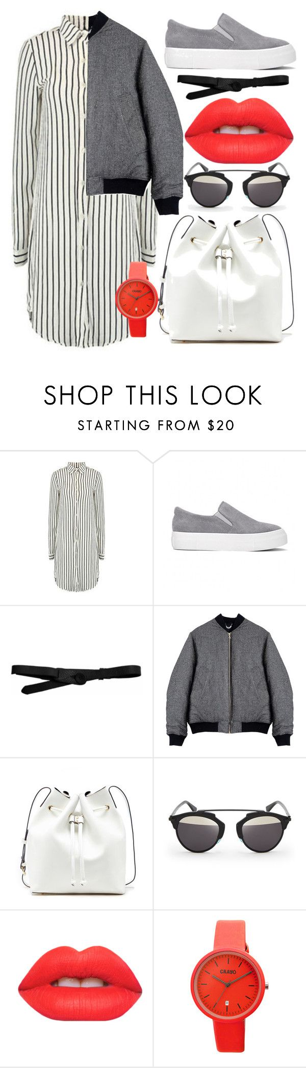 """Minimalism."" by ro-mondryk on Polyvore featuring Lowie, Von Sono, Sole Society, Christian Dior, Lime Crime and Crayo"