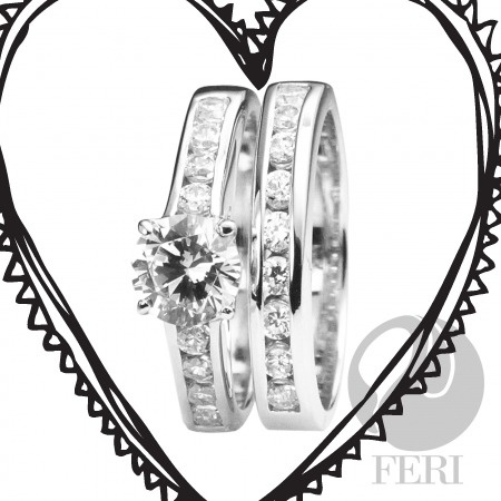 """Oh! This is a """"My Valentine Ring""""...Made of .925 Sterling Silver from GWT Galleries."""