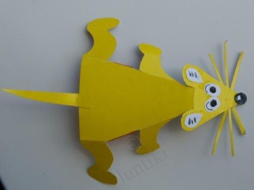 Muis knutselen / Поделки шишек: поделки из бумаги квеас, поделки из цветной бумаги